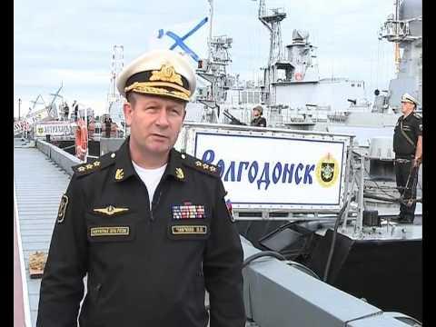 Главком ВМФ адмирал Виктор Чирков проверил готовность Каспийской флотилии к СКШУ Центр-2015