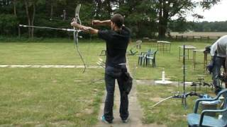 - archery - recurve shooting technique with my hoyt helix