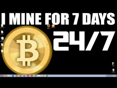 7 DAY$ 24 HR$   BITCOIN MINING EXPERIMENT   See How Much Money I Made