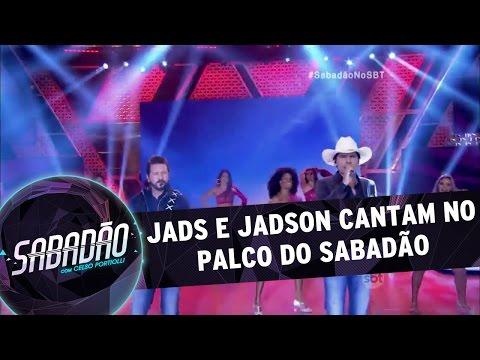 Sabadão com Celso Portiolli (26/03/16) - Jads e Jadson cantam no palco do Sabadão