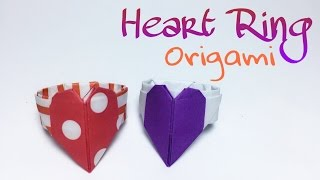 HEART RING ORIGAMI TUTORIAL !