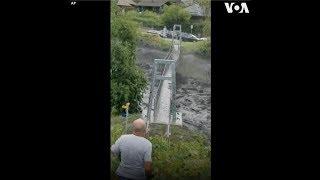 Mưa lớn gây lũ lụt và lở đất ở Thụy Sĩ (VOA)