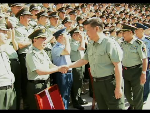 Chinese President Inspects Strategic Support Force