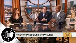Byron Scott and Brian Windhorst disagree on how NBA should crack down on traveling | The Jump | ESPN