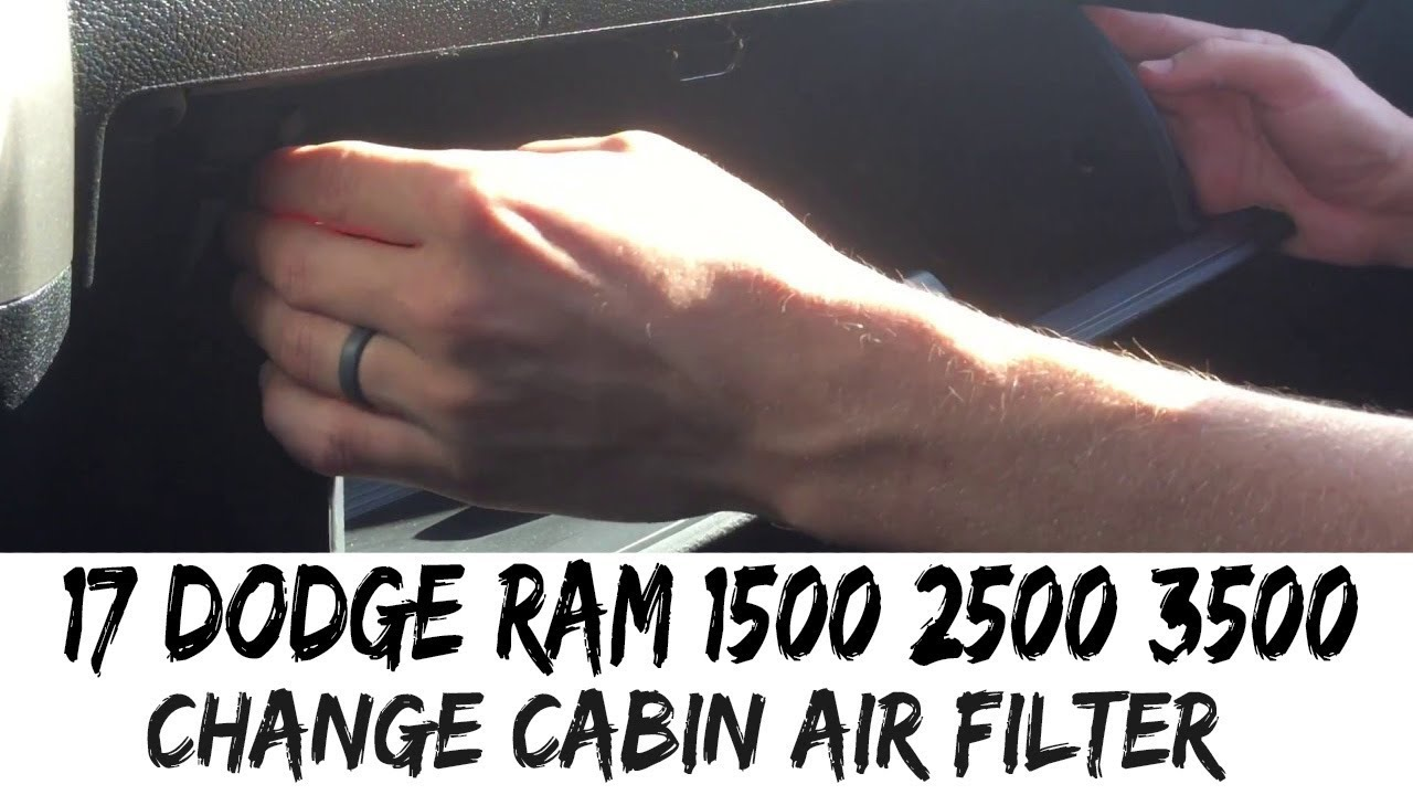 How To Replace Cabin Air Filter 2017 2018 2019 Dodge Ram 1500 2500 3500 17 Youtube