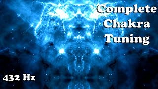 (POWERFUL 432 Hz) COMPLETE CHAKRA Activation and Balancing (1:41 meditation)