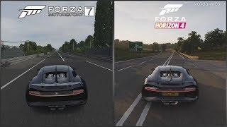 Forza Motorsport 7 vs Forza Horizon 4   Bugatti Chiron Sound Comparison