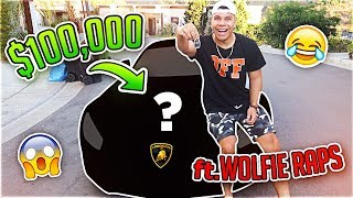 SURPRISING MY ROOMMATE WITH HIS DREAM $100,000 CAR (ft. WolfieRaps)
