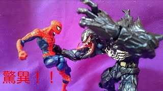 MARVEL スパイダーマンで登場する有名な敵キャラ VENOM!! 大変興奮しま...