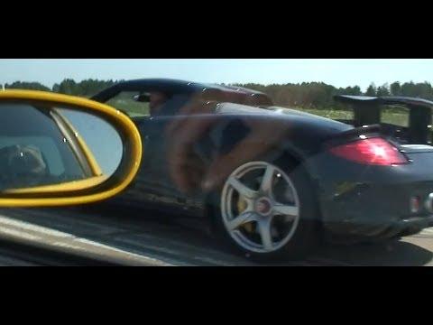 Porsche Carrera GT vs tuned Chevrolet Corvette Z06 with CGT MIS-SHIFT!