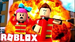 PLAYING AS FIREFIGHTERS! (Roblox Adventures RedHatter)