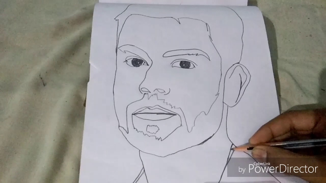 How To Make A Sketch Pitcher Of Virat Koli Kids Club By
