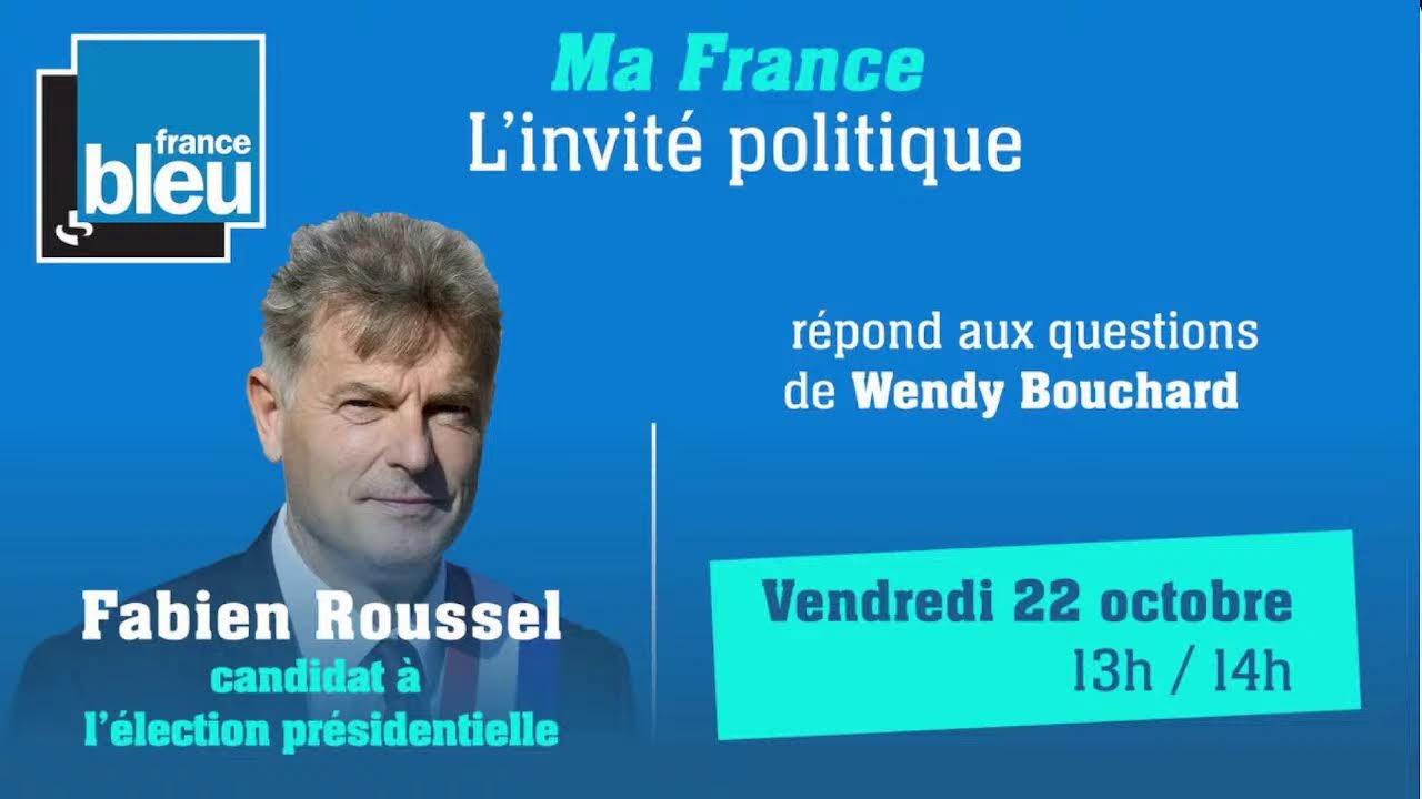 DIRECT Fabien Roussel invité de France Bleu