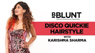 How To Wear A Hair Extension Like TV Actress Karishma Sharma's Disco Quickie