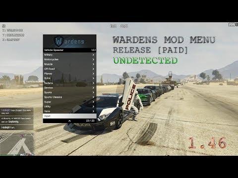 GTA V PC Online 1 46 Wardens Mod Menu - PAID WARDENS HACK