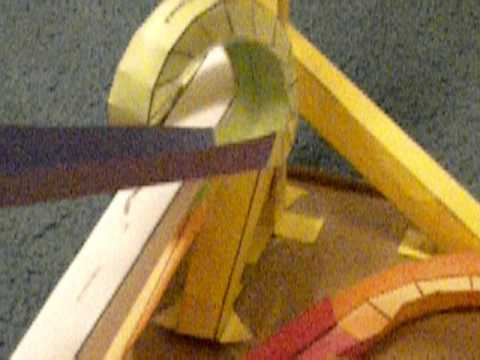 My first marble run using paper roller coaster templates for Free printable paper roller coaster templates