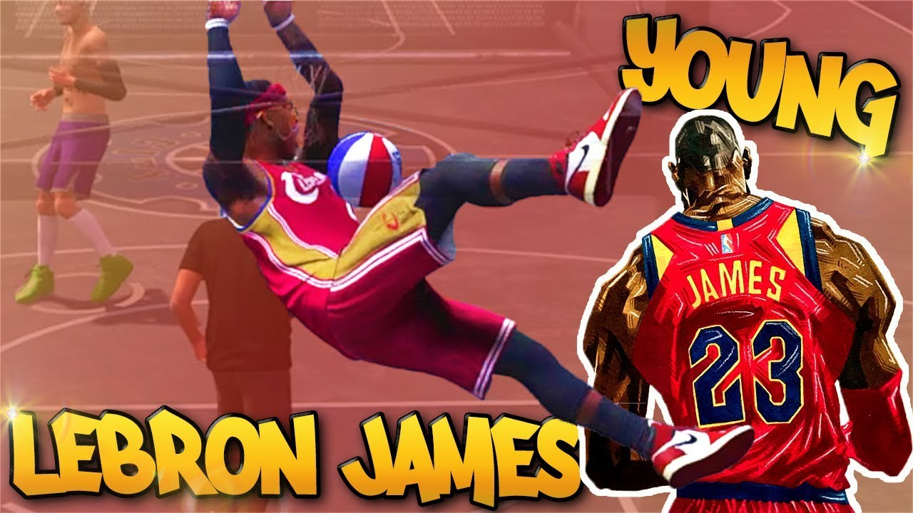 NEW 6'8 Young LeBRON JAMES Build At the Park - NBA 2K18 3v3