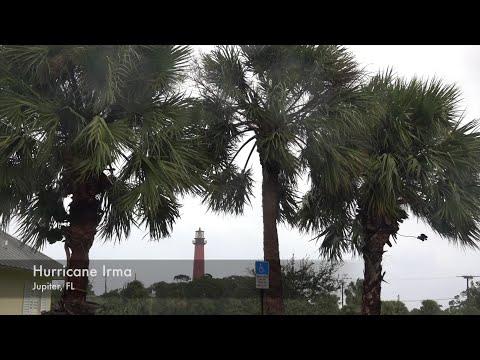 VIDEO: Hurricane Irma outer bands hit Jupiter, Florida