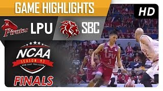 LPU vs. SBC | NCAA 93 | MB | Finals Game Highlights | November 16, 2017