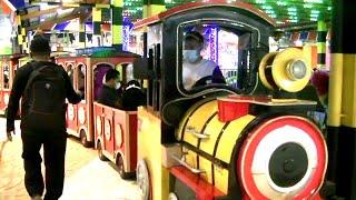 NEW COSPLAY Upin Ipin & Cosplay Teletubbies Ride Train In Gofun | Odong-Odong Kereta Api