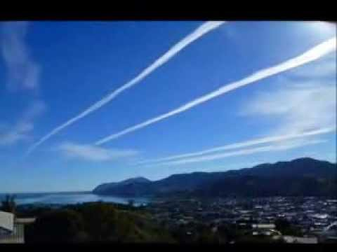 Chemtrails Over Nelson, NZ - Time Lapse Footage & Still Photos - Feb 15th, 2014.
