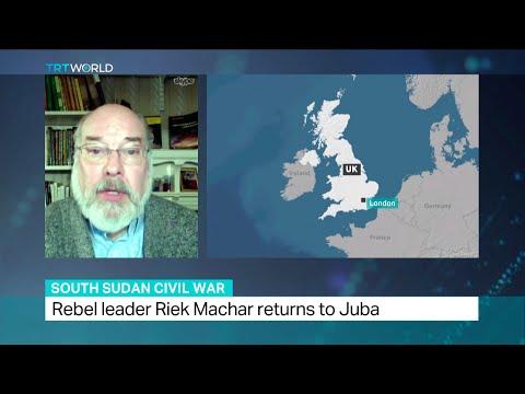 Interview with Douglas Johnson about return of Riek Machar to Juba