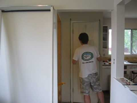 How To Paint a Paneled  Door?  Learn How  With  a Mini Roller