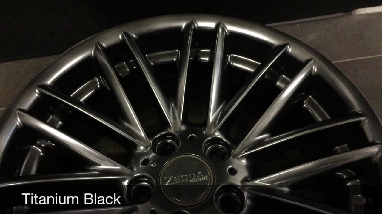 zd titanium black felgen pulverbeschichtung pulvern beschichten lackieren schwarzchrom zedda