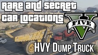 GTA 5 Rare & Secret Car Locations — HVY Dump Truck (GTA V)