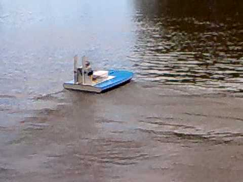 RC Homemade Boogie Board Brushless AirBoat.mp4 - YouTube