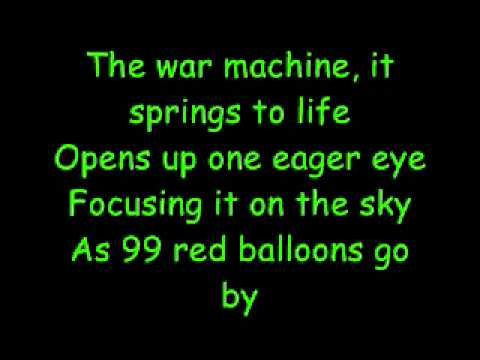 99 Red Balloons - Goldfinger (With German) Lyrics