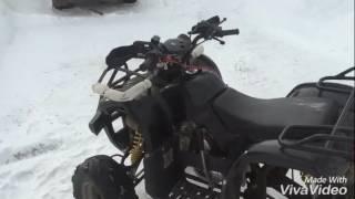 Тест-драйв и Видеообзор на квадрик от Екимыча!!! (квадроцикл 110сс , зимний дрифт)