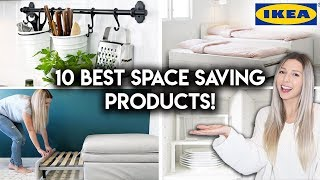 10 BEST IKEA PRODUCTS FOR SMALL SPACES | Space Saving Tips & Ideas