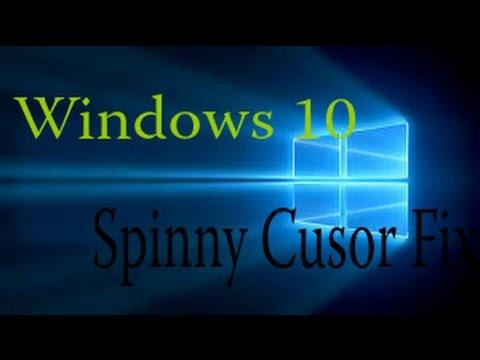 Windows 10 Flashing Blue circle fix