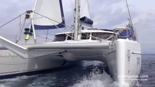 FP BELIZE Catamaran Tantrum with Jeckells sails in Greece