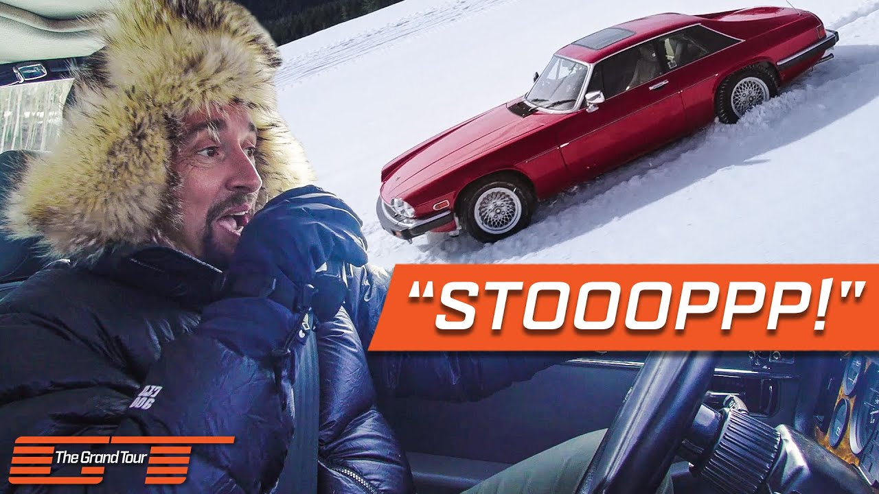 Jeremy, James and Richard Take Their Classic Jaguars Skiing   The Grand Tour