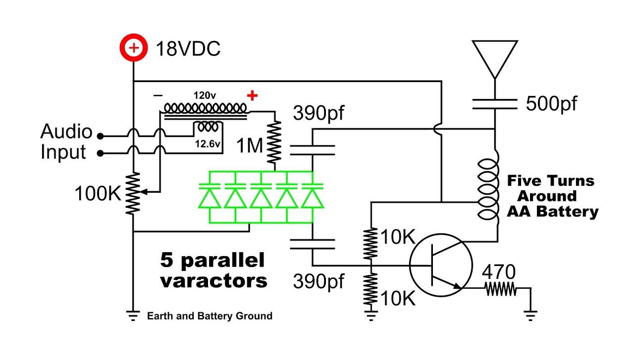 Fm Transmitter Varactor Diode Modulator