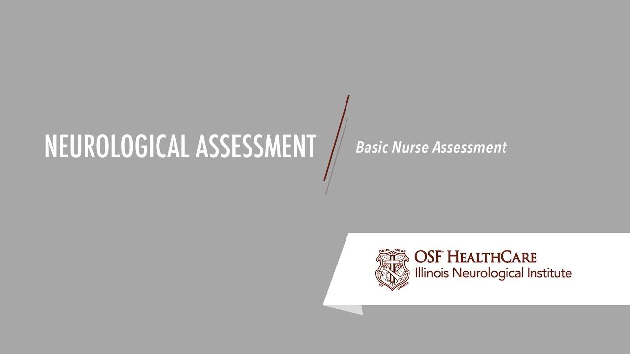 nursing neurological assessment checklist