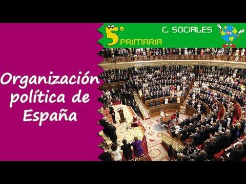 organización-política-de-españa.-sociales,-5º-primaria.-tema-4