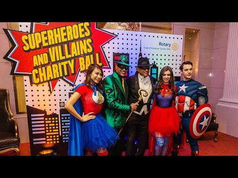 Superhero Themed Charity Ball - Themed Parties and Events Hong Kong by Chunky Onion Productions