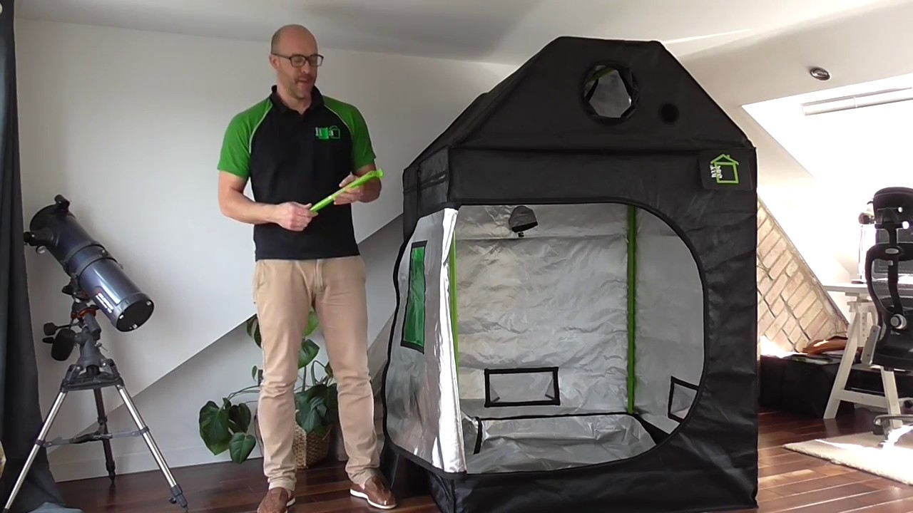 Getting to Know the Roof-Qube Grow Tent & Getting to Know the Roof-Qube Grow Tent - YouTube