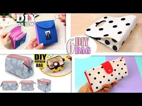 6 DIYs SUPERB BAG IDEAS DESIGN FAST MAKING NO SPEND MONEY AT ALL