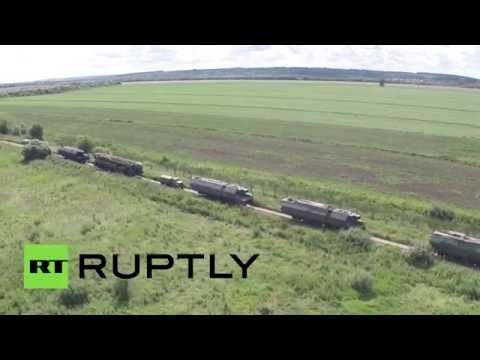 Topol-M intercontinental ballistic missile drills in Moscow region (drone footage)