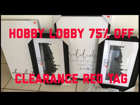 Hobby Lobby Clearance 75% off Storewide!
