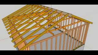 Vertical Garage Roof Bracing And Storage Problems