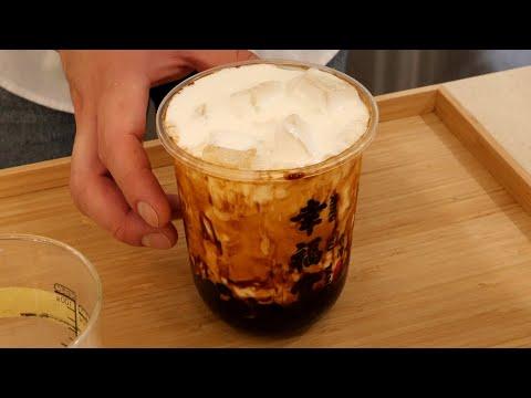 타피오카펄을 직접 만드는 흑당 버블 우유 brown sugar bubble milk / korean street food