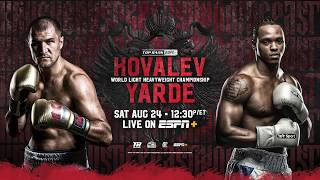 #KovalevYarde Headlines Special Afternoon of Boxing on ESPN+