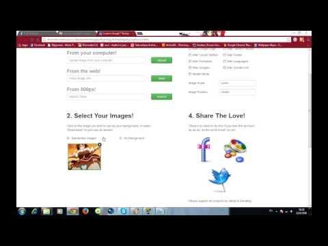 สอนเปลี่ยนภาพพื้นหลัง Google โดย เพจ DxD Thailand