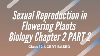 Sexual Reproduction in Flowering Plants Biology Chapter 2 12TH CLASS PART 2