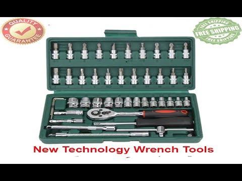 #46PCS Socket Spanner Set 1/4″ Cr-v Car Repair Tool port Equipements